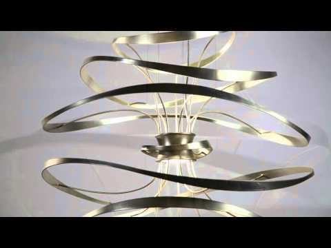 Video for Calligraphy Silver Leaf 18-Inch Two-Light LED Pendant