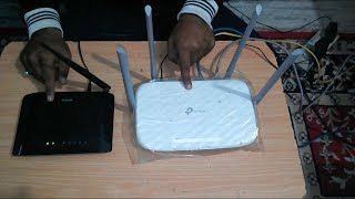 connect two wifi routers - tp link wifi router - dlink wifi router - (Tutorial)