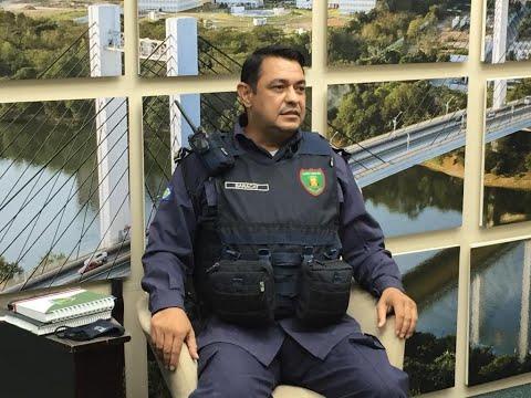 Guarda vai retirar pichações de organizações criminosas