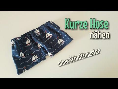 Kurze Hose - Nähanleitung - OHNE Schnittmuster - Anfänger - Nähtinchen