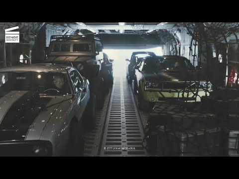 Furious 7: Plane drop scene HD CLIP