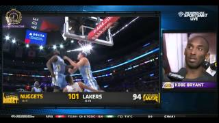 Kobe Bryant Post game interview - Lakers vs Nuggets