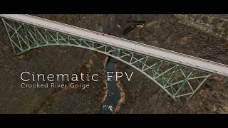 Cinematic FPV first 2 weeks of flying - Crooked River Gorge