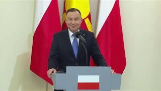 Konferencja prasowa Prezydentów RP i Republiki Macedonii Północnej
