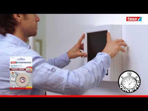 tesa® Powerbond Cinta Doble Cara Interiores – Fijar objetos de forma rápida y segura