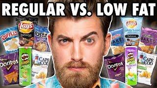 Low Fat vs. Regular Chips Taste Test