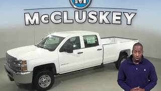 191814 2019 Chevrolet Silverado 2500HD Work Truck 4WD White Crew Cab Test Drive, Review, For Sale -