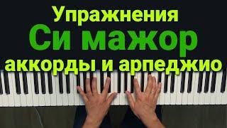 Упражнения фортепиано Аккорды и арпеджио в СИ МАЖОРе на фортепиано   Глория