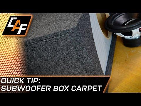Subwoofer Box Carpet - CarAudioFabrication Quick Tip