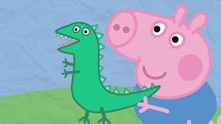 Рисуем вместе: Динозавр Джорджа из мультика Свинка Пеппа. Развивающий мультик