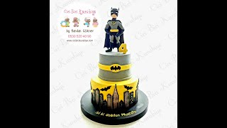 Batman Figure And Cake Tutorial