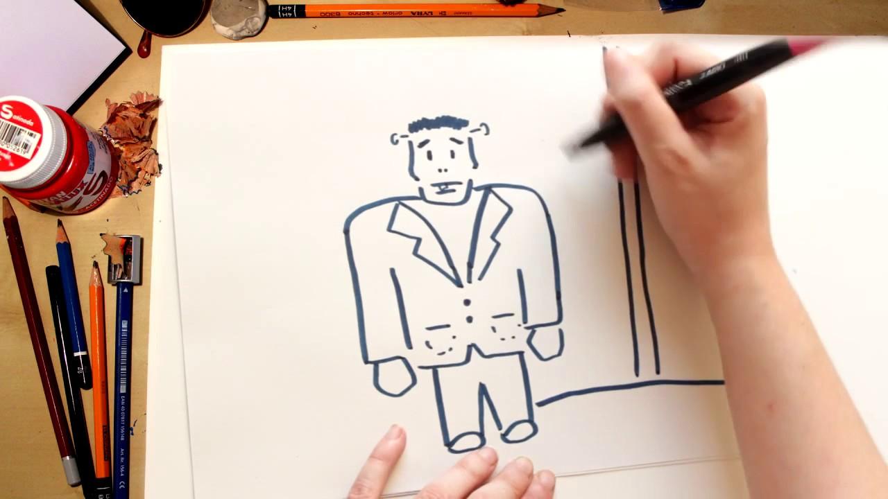 Como desenhar um Frankenstein - desenhos de Halloween para crianças