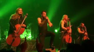 """House of Chains""- Apocalyptica ft. Franky Perez LIVE at The Fonda Theater - Los Angeles, CA 5/3/16"