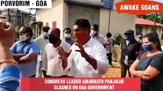 CONGRESS LEADER AMARNATH PANJIKAR SLASHED ON GOA GOVERNMENT