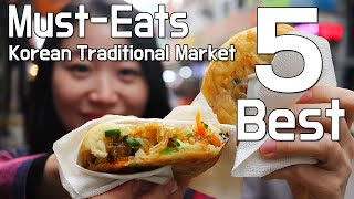 Street Food Tour of LARGEST Korean Traditional Market in Seoul South Korea Namdaemun Market