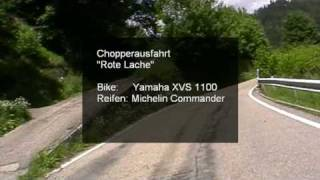 preview picture of video 'Chopperfahrt - Rote Lache - XVS 1100'