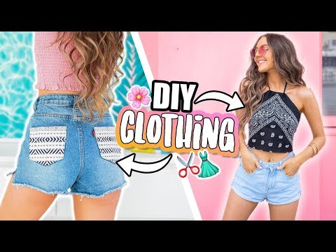 EASY DIY CLOTHING! No Sew + QUICK 2018