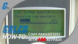 How to Copy Parameters with ABB ACS Drives from Keypad