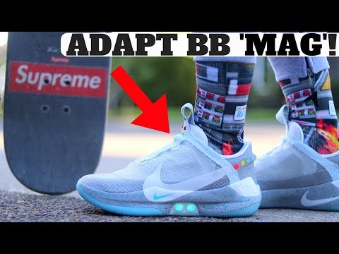 """AUTOLACING SNEAKER: NIKE ADAPT BB AUTO LACING """"MAG"""" BTTF Review & On Feet!"""