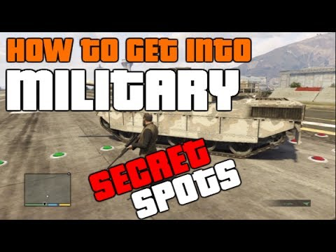 GTA 5 ONLINE: *SECRET SPOTS* HOW TO GET INTO THE MILITARY BASE! (EASIEST WAY) [GTA V MULTIPLAYER] Mp3