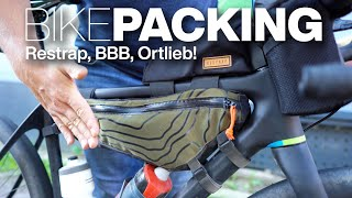 Bikepacking-Taschen am OPEN U.P.P.E.R: Restrap Framebag L Oberrohrtasche Top Tube Bag BBB BarBuddy