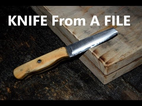 How To Make A Knife From A File
