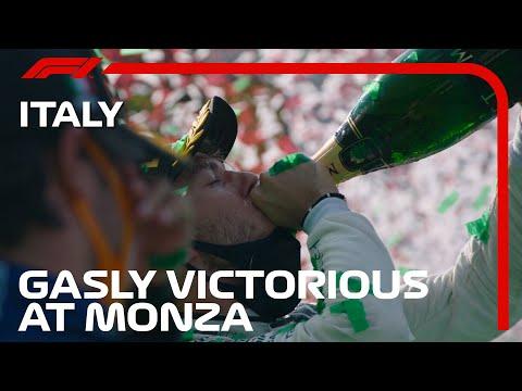 ピエール・ガスリーがF1初優勝!ホンダのパワーユニットを搭載したScuderia AlphaTauri Hondaのマシンが優勝