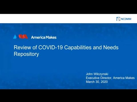 , title : 'America Makes Assists Medical Supply Production | 3 Minutes With 4-3-20