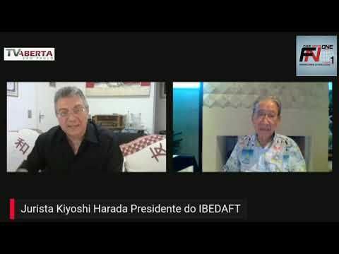 Kiyoshi Harada Presidente do IBEDAFT em entrevista para a Tv Aberta de SP com Walter Ciglioni