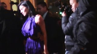 Kylie Jenner Gets Her Dress Stepped On
