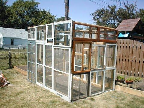 Gewächshaus selber bauen. Glas. Gewächshaus selber bauen aus holz. Aus alten fenstern.