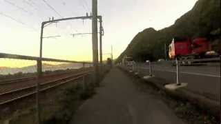 preview picture of video 'Petone to Wellington CBD - 12x Speed, Handlebar camera'