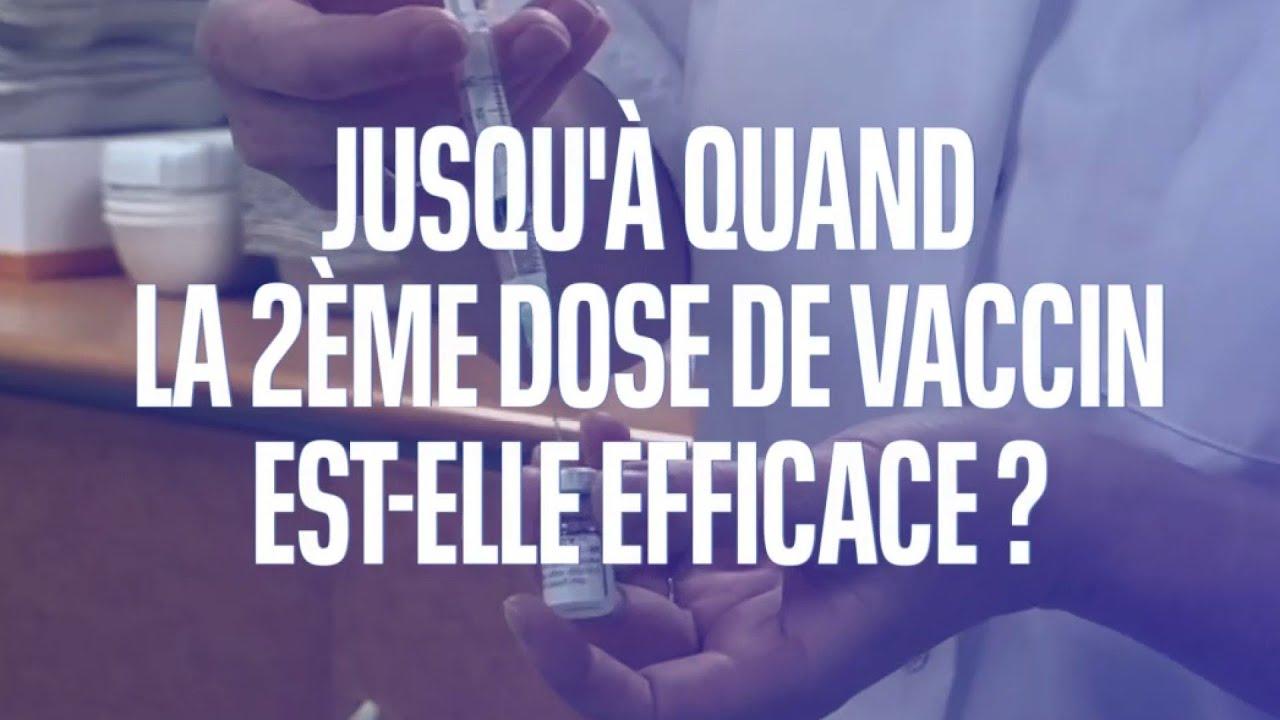 Covid-19: peut-on estimer la durée d'efficacité de la deuxième dose de vaccin ?
