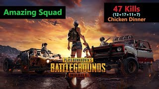 "[Hindi] PUBG Mobile | ""47 Kills"" With Squad Amazing Match #Chicken Dinner"