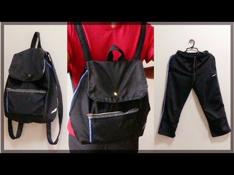 DIY BACKPACK: How to Make Your Own Backpack from Old Jogging Pants