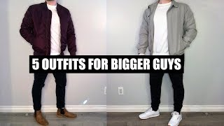 5 Outfits For Bigger Guys - Casual Fashion For Big Guys - Big Men Fashion