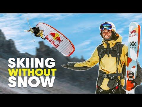 Summer Skiing While Speedriding Looks Exhilarating