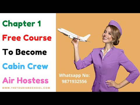 Cabin Crew Free Course Chapter 1 | Become Air Hostess & Fly Like ...