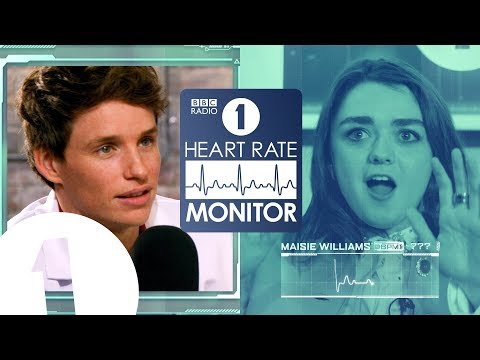 Maisie Williams HEART RATE MONITOR feat. Eddie Redmayne   GAME OF THRONES 'SPOILERS' (!?)