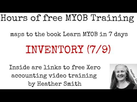 Free MYOB Training Day 5 INVENTORY (7/9) - YouTube