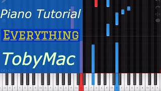 TobyMac - Everything Piano Tutorial & Drum Backing Track