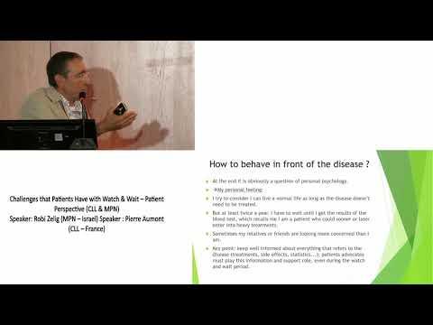 10 Challenges that Patients Have with Watch & Wait – Patient Perspective Pierre Aumont