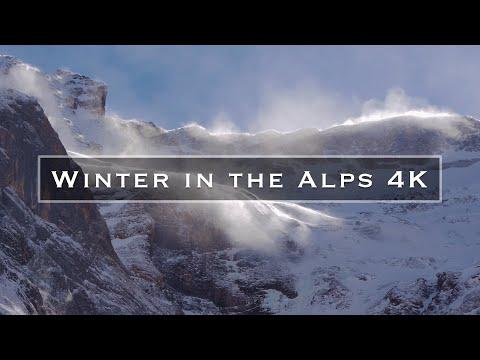 יופיו של החורף בהרי האלפים