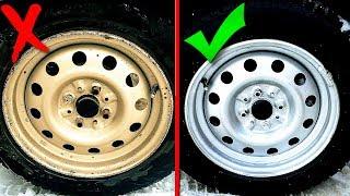 Как покрасить диски и не закрасить резину или Покраска дисков не снимая резины и не снимая с машины