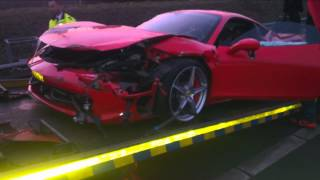 Afrojack Ferrari crash (EXCLUSIVE footage and pictures)