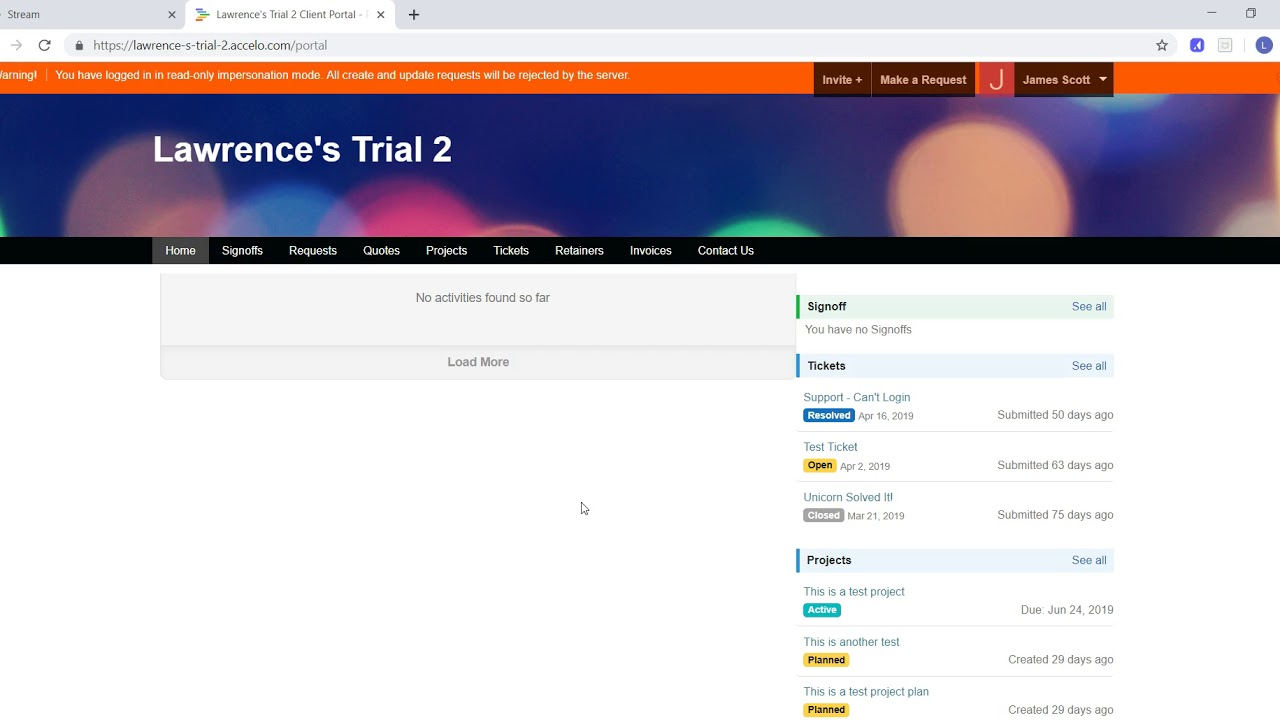 Client Portal Permissions