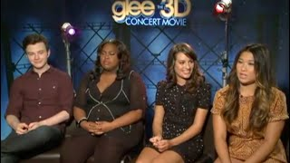 GLEE - Lea Michele Hating Chris Colfer, Amber Riley And Jenna Ushkowitz For 2 Minutes Straight