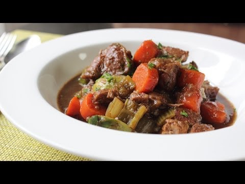 Irish Pork Stew Recipe - Pork Stewed with Guinness Beer and Vegetable - St. Patrick's Day Recipe