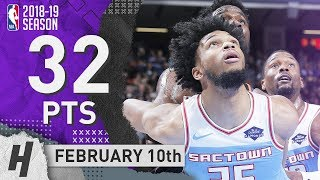 Marvin Bagley III Full Highlights Kings vs Suns 2019.02.10 - 32 Pts, 7 Rebounds!