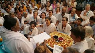 Amma singing Srushtiyum neeye in Hebrew, Jewish devotees celebrating New year with her
